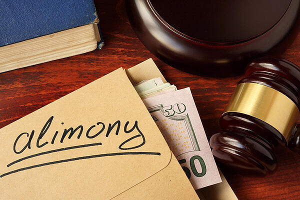Envelope with Alimony Payments from Divorce