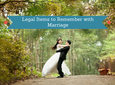 Legal Items With Marriage